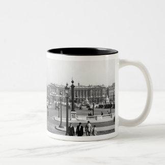 Place de la Concorde, designed in 1757 Two-Tone Coffee Mug