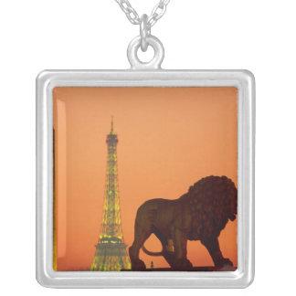 Place de la Concorde; Eiffel Tower; Obelisk; Silver Plated Necklace