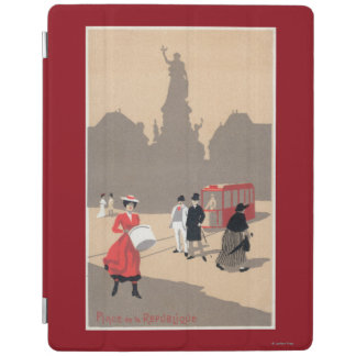 Place de la Republique Art Deco Scene iPad Cover