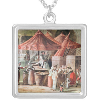 Place de l'Apport-Paris Front of Grand Silver Plated Necklace