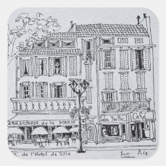 Place de L'Hotel de Ville   Aix en Provence Square Sticker