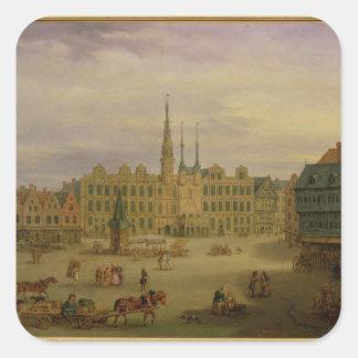 Place de L'Hotel de Ville, Cambrai, c.1780 Square Sticker