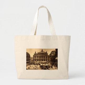 Place de l'Opera, Paris France c1925 Vintage Large Tote Bag