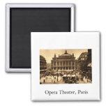 Place de l'Opera, Paris France c1925 Vintage Fridge Magnets