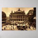 Place de l'Opera, Paris France c1925 Vintage Poster
