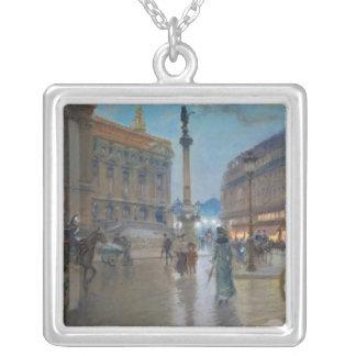 Place de L'Opera, Paris Silver Plated Necklace