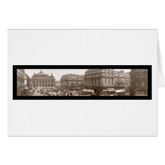 Place De L'Opera Photo 1909 Greeting Card