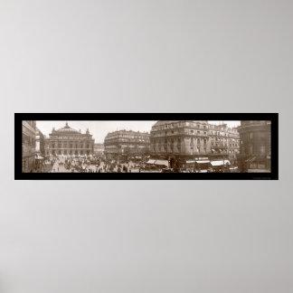 Place De L'Opera Photo 1909 Poster