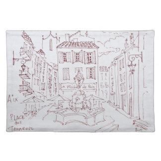 Place des Tanneurs | Aix en Provence, France Placemat