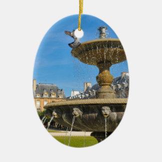Place des Vosges in Paris, France Ceramic Oval Decoration