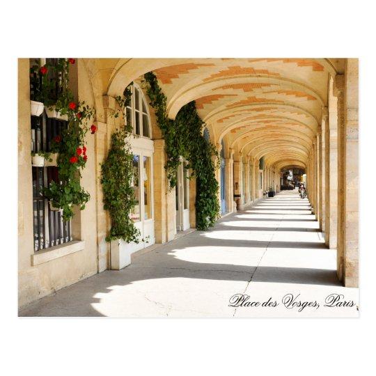 Place des Vosges in Paris, France Postcard