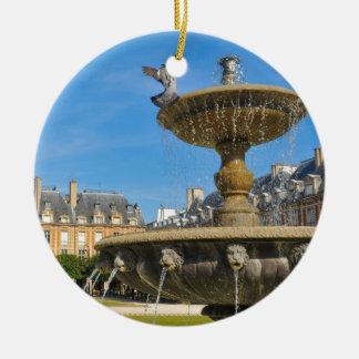 Place des Vosges in Paris, France Round Ceramic Decoration