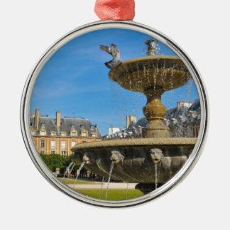 Place des Vosges in Paris, France Silver-Colored Round Decoration