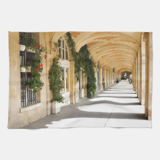 Place des Vosges in Paris, France Tea Towel