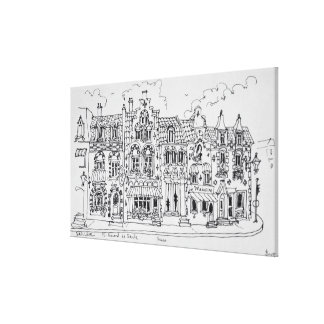 Place du general de Gaulle | Bailleul, France Canvas Print