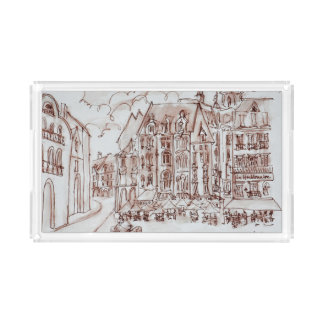 Place du General de Gaulle | Old Town, Lille Acrylic Tray