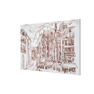 Place du General de Gaulle | Old Town, Lille Canvas Print