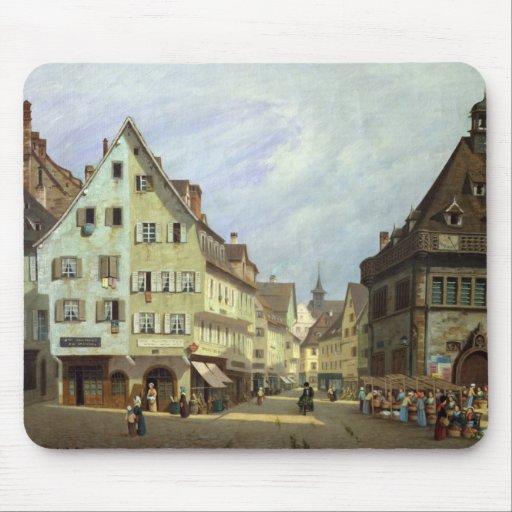 Place du Marche-aux-Fruits, Colmar, 1875 Mousepad
