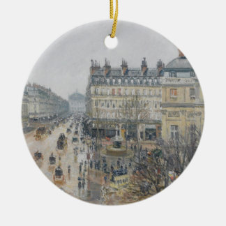 Place du Theatre Francais, Paris: Rain, 1898 Christmas Ornament