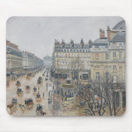 Place du Theatre Francais, Paris: Rain, 1898 Mouse