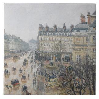 Place du Theatre Francais, Paris: Rain, 1898 Tile
