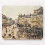 Place du Theatre Francais, Paris: Rain by Pissarro Mousemat