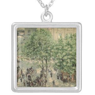 Place du Theatre-Francais, Spring, 1898 Silver Plated Necklace