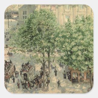 Place du Theatre-Francais, Spring, 1898 Square Sticker