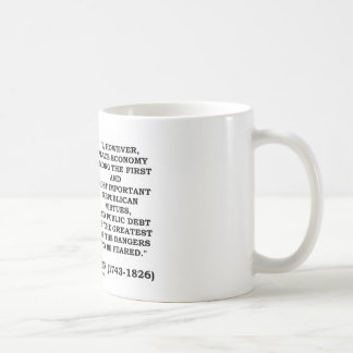 Place Economy Among First Most Important Virtues Coffee Mug