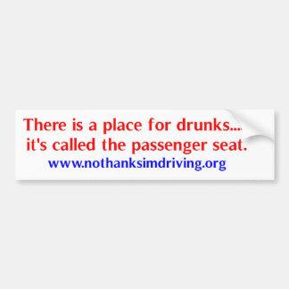 Place for drunks bumper sticker