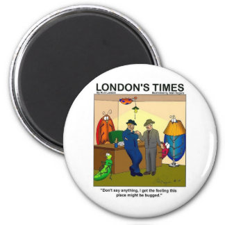 Place Is Bugged Funny Police Gifts & Tees 6 Cm Round Magnet