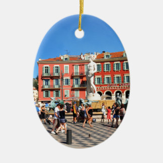 Place Massena in Nice, France Ceramic Oval Decoration