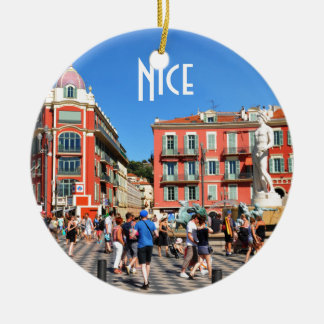 Place Massena in Nice, France Christmas Ornament