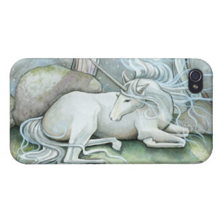 Place of Peace Watercolor Art Unicorn Fantasy Case For The iPhone 4