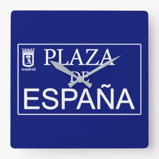 Place of Spain Square Wall Clock