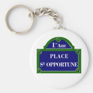 Place Sainte-Opportune, Paris S, Paris Street Sign Key Chain