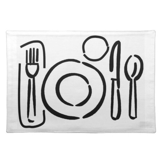 Place Setting Diagram Placemat