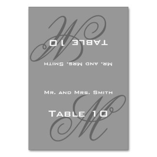 Place Setting Monogram Card