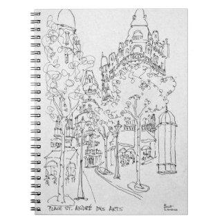 Place St. Andre des Arts | Paris, France Notebooks