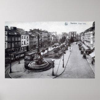 Place Verte Verviers Belgium 1920s Vintage Posters