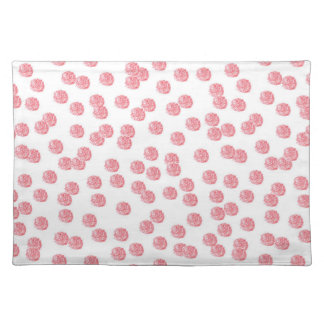 Placemat 20''x14'' with red polka dots
