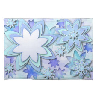 Placemat abstract lotus flowers