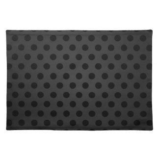 Placemat Black Polka Dot