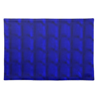 PLACEMAT - DARK BLUE RIBBED / BUBBLED DESIGN
