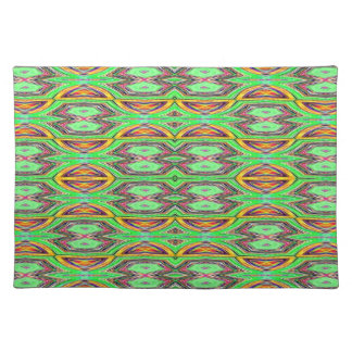 Placemat - Decorative green yellow design
