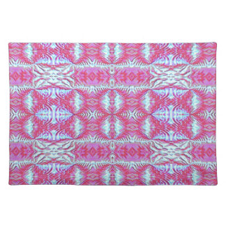 Placemat - Decorative Pink and Blue Design.