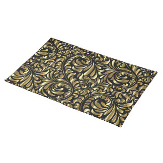 Placemat - Drama in Black and Gold
