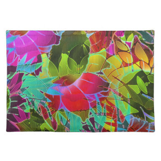 Placemat Floral Abstract Artwork