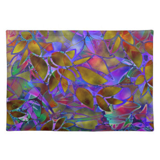 Placemat Floral Abstract Stained Glass