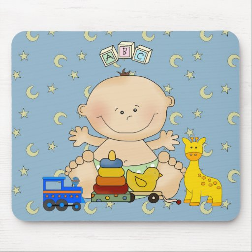 Placemat For Baby Boys, Baby And Toys 2 Mouse Pads
